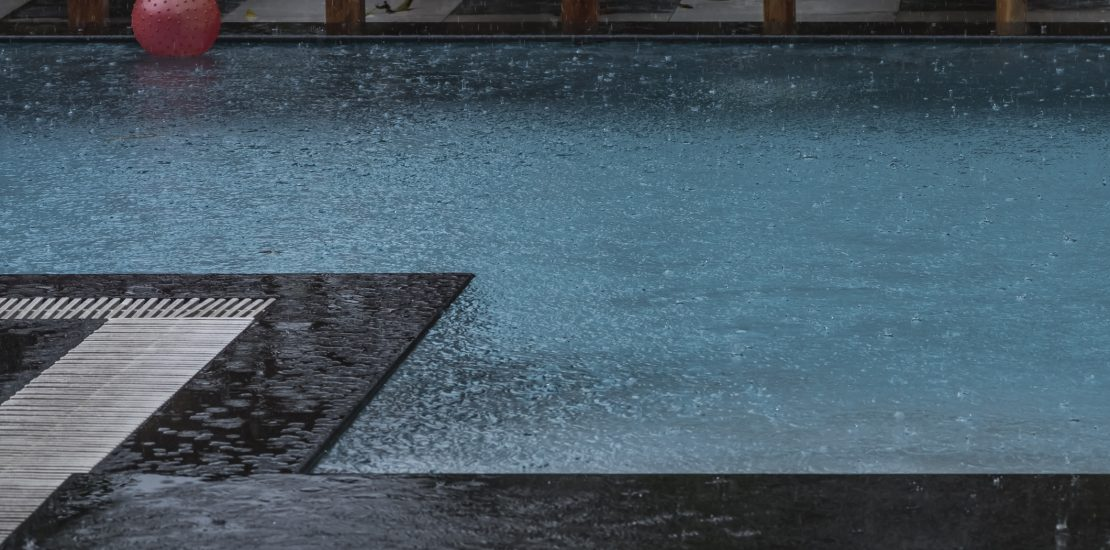 Swimming Pool in Rain